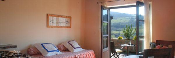 estancia familiar con habitación y terraza, vista salón y acceso terraza