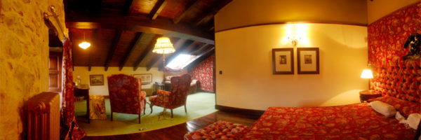 habitación la Suite, vista desde el dormitorio