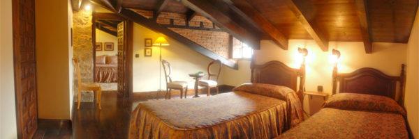 habitación los Buhardillones, vista dormitorio principal