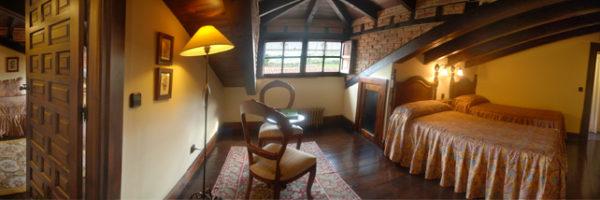 habitación los Buhardillones, vista general